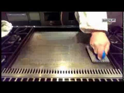 Gas Ranges >> How to clean a Wolf Griddle - YouTube