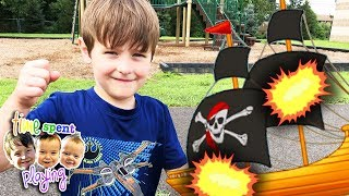 Kids Pretend Play Pirate Attack at the Playground   FREE Family Fun Idea