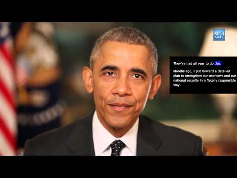 President Obama -  Aug 22nd, 2015 - video captioned -  Congress - Pass a Reponsible Budget