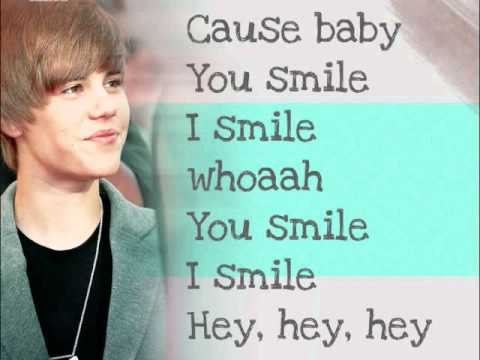 Justin Bieber - U smile - lyrics