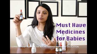 Must Have Baby Medicines/ first aid essentials (0-6 months)