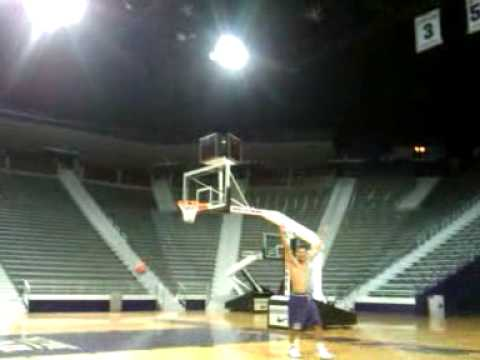 Denis Clemente (K-State) Crazy Shot, Can you beat this Lebron? Video
