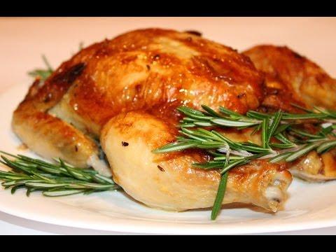 Как жарить курицу в духовке - видео