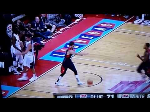 Paul George injury (slow motion)