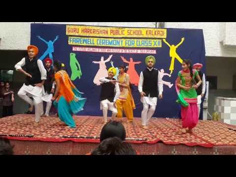 Farewell Bhangra Guru Harkrishan Public School Kalka Ji New Delhi 2014 video