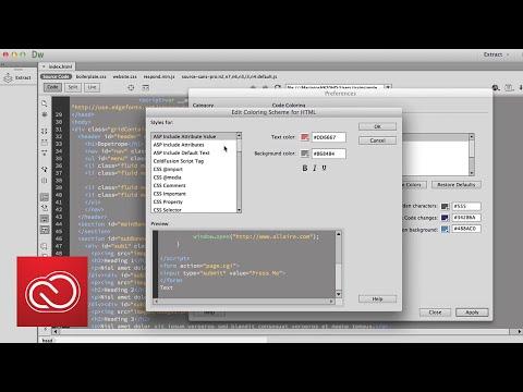 How to Personalize Code Editor: Dreamweaver | Adobe Creative Cloud