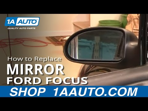 How to Install Repair Replace Fix Broken Side Rear View Mirror Ford Focus 00-04