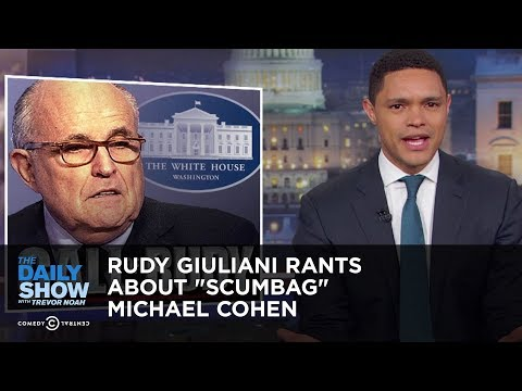 """Rudy Giuliani Rants About """"Scumbag"""" Michael Cohen 