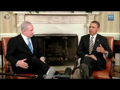 Barack Obama & Benyamin Netanyahu - Joint Oval Office Remarks