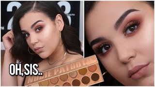 INSANELY EASY BRONZE SMOKEY EYE MAKEUP TUTORIAL USING LAURALEE'S NUDIE PATOOTIE EYESHADOW  PALETTE!