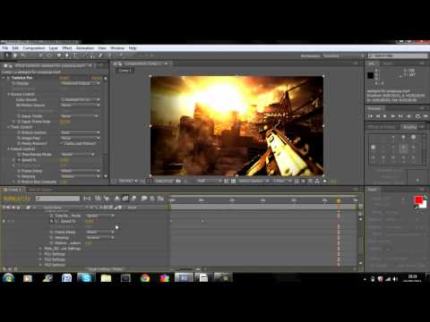 Adobe After Effects CS4 Twixtor Tutorial - COD Montage Editing Ep. 1 ...