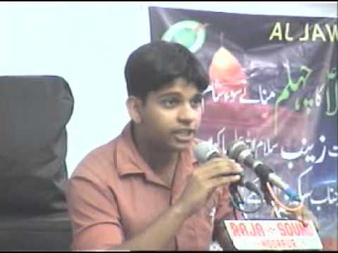 Sahil Bijnori speaks on Tarikh-e-Islam.