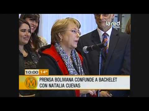 Prensa boliviana confunde a Michelle Bachelet con Natalia Cuevas