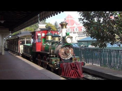 Disneyland Paris Railroad Grand Circle Tour from Main Street to Frontier, Fantasy & Discoveryland