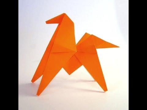 طريقة عمل حصان من الورق الملون عن طريق فكرة �
