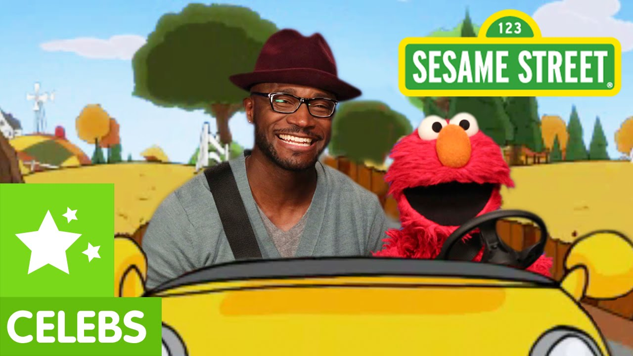 Sesame Street Elmo And Taye Diggs Go For A Drive Youtube