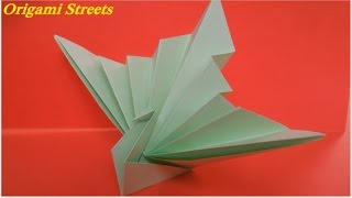 How to make origami peacock  Simple Craft Idea