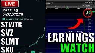 1000% Earnings Flips At Open – Live Trading, Day Trading, Option Trading LIVE,  Stock News & Chat!