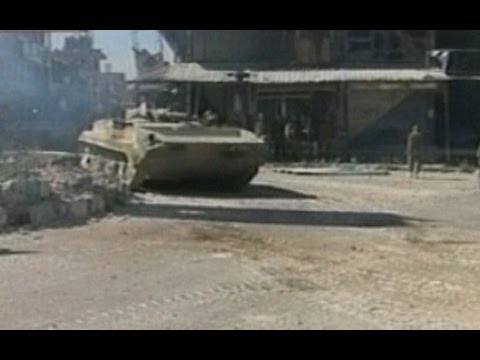 Syrian government troops roll into Qusayr