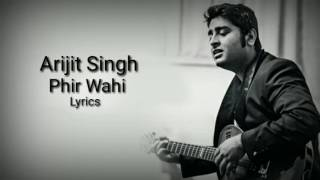 "download lagu ""phir Wahi""  Arijit Singh  Latest Song  gratis"