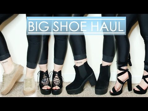 BIG SHOE HAUL | Boohoo, Public Desire & More!