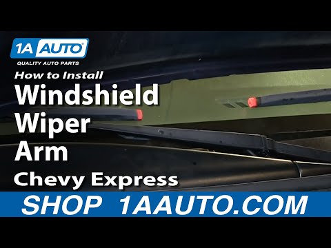 How To Install Replace Windshield Wiper Arm 1996-2013 Chevy Express GMC Savana