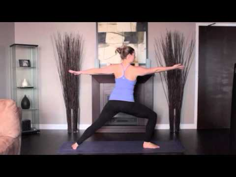 Yoga Reverse Warrior Pose Left and Right