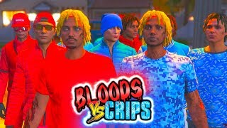 "GTA 5 BLOODS Vs CRIPS ""TWIN BROTHERS #3"" 🔴GANG WAR🔵 (GTA5 RP)"
