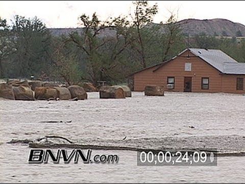 6/8/2006 Brandenberg Montana Flash Flooding Stock Video