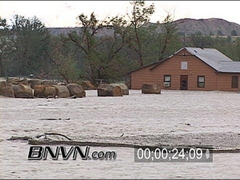 6/8/2006 Brandenberg Montana Flash Flooding Stock Video