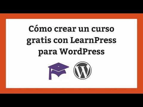Cómo crear un curso con LearnPress para WordPress gratis