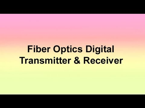 FIBER OPTICS DIGITAL TRANSMITTER & RECEIVER