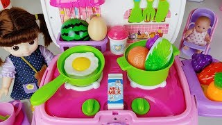 Baby doll food kitchen car and cooking toys play - 토이몽