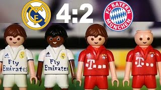 ⚽ REAL MADRID - BAYERN MÜNCHEN 4:2 PLAYMOBIL Fussball Championsleague Highlights Stop Motion deutsch