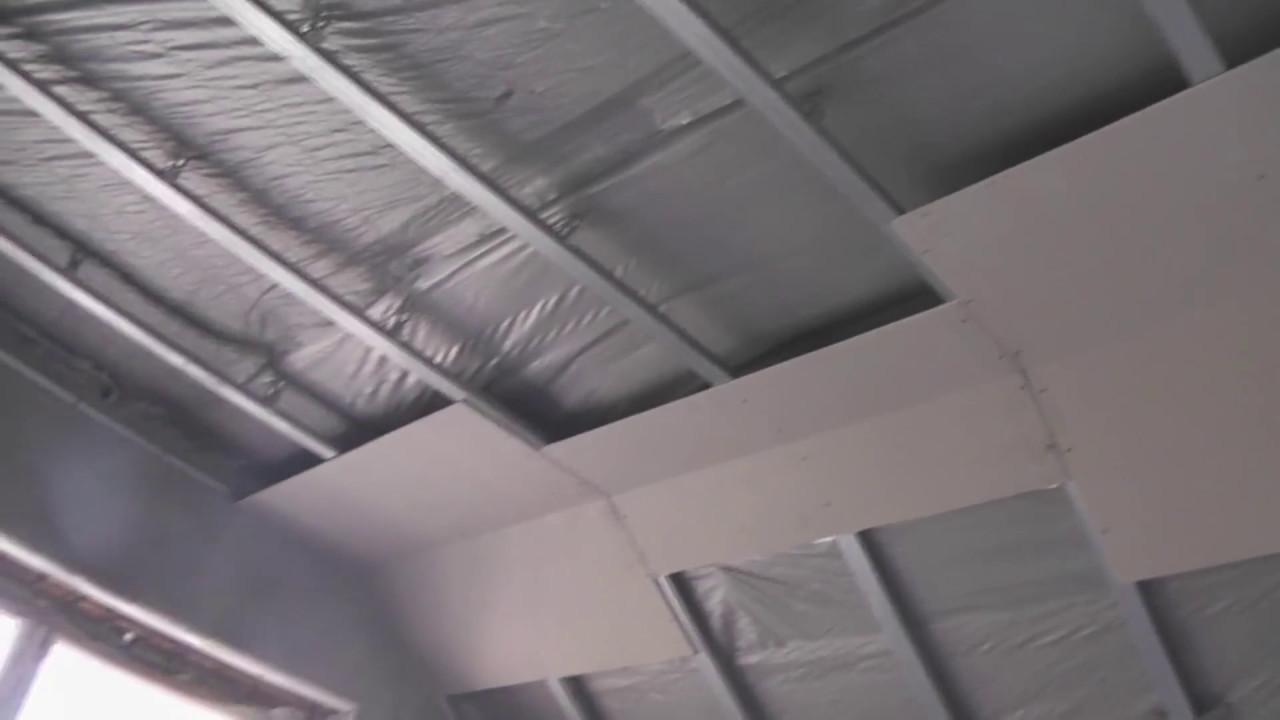 Потолок на мансарде из гипсокартона своими руками 33