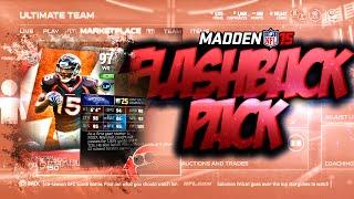 Madden NFL 15 Ultimate Team - NEW 100 CIT BRANDON MARSHALL! FLASHBACK PACK OPENING! - MUT 15
