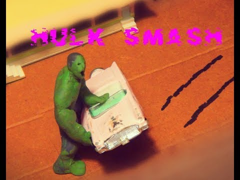 Hulk Smash 1950's Car (Claymation) - Stop Motion