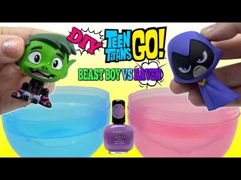 TEEN TITANS GO! Beast Boy vs Raven DIY Color Changing Nail Polish
