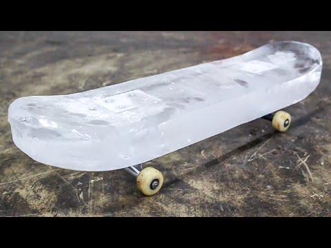 SKATEBOARD MADE OF ICE!