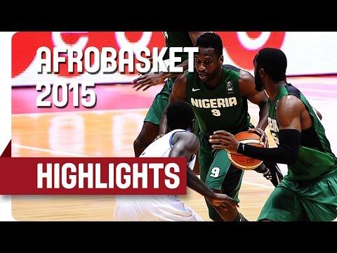 Gabon v Nigeria - Game Highlights - Quarter Final - AfroBasket 2015