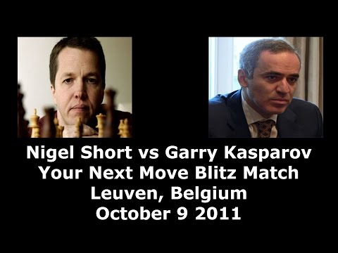 GM Nigel Short vs GM Garry Kasparov Your Next Move Chess Blitz Game 6