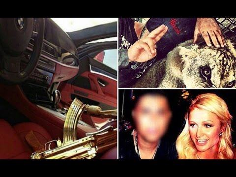 Rich Kids of Cartel: Mexico drug lord El Chapo's children shows wealth with Pet Lions,Cars & Guns