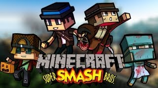 4-Player Minecraft Super Smash Bro's! #1