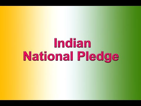 Indian National Pledge In English