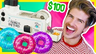 TESTING THE MINI DONUT FACTORY MACHINE!