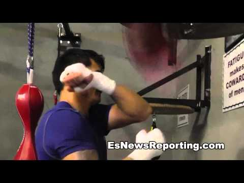 marcos maidana on speed bag - EsNews Boxing