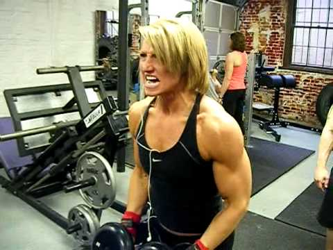 DB Lateral Raises by Brad and Angela during the Arnold Image 1