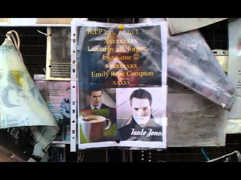 Ianto Jones - gone, but not forgotten here in Cardiff.