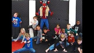 "The ""Stunning Spider-Man"" Entertains Kids at Infinity Martial Arts"