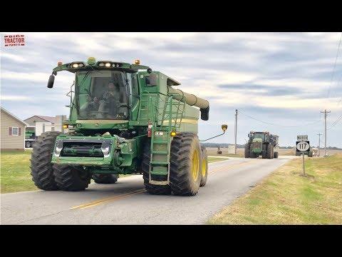 JOHN DEEERE S790 Combine Corn Harvest Road Trip